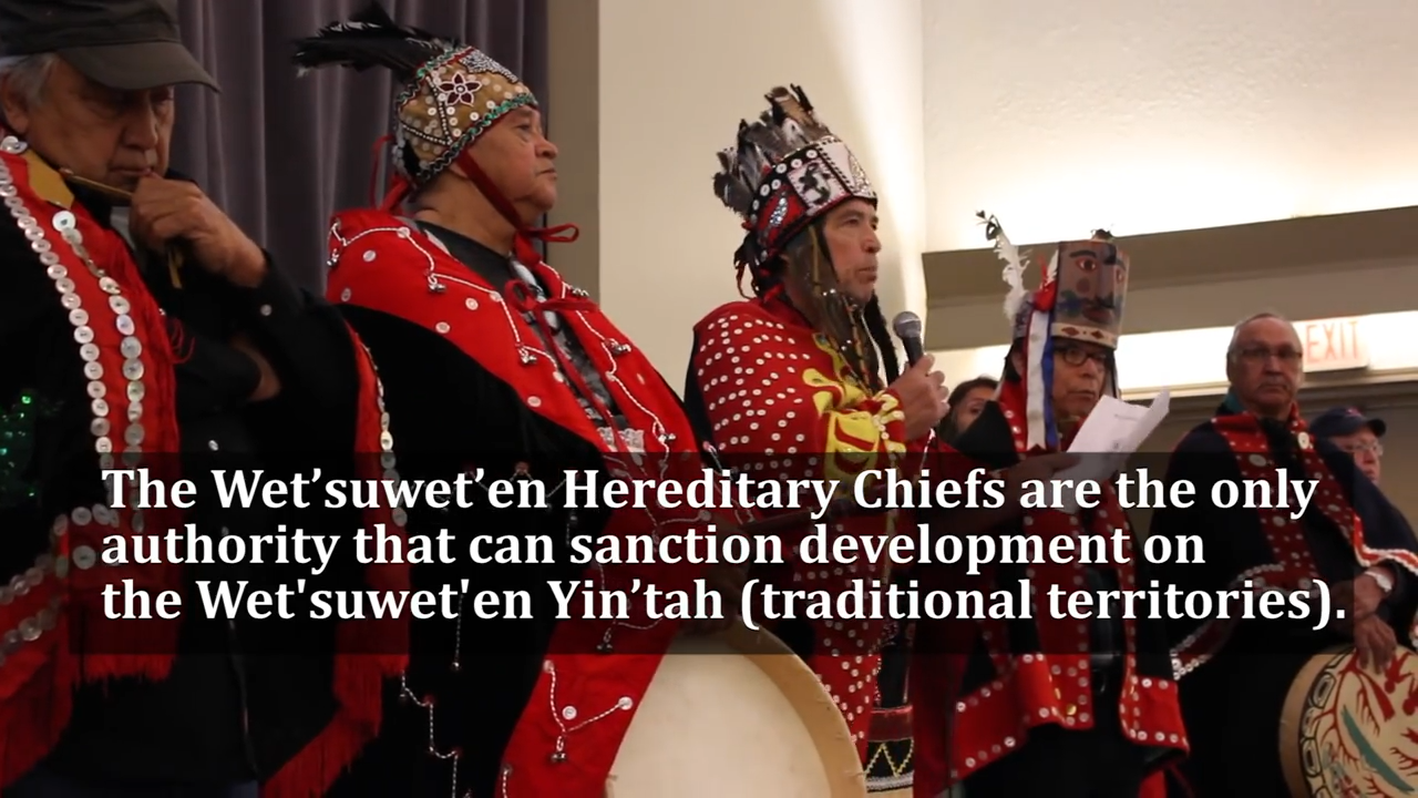 Wet'suwet'en Hereditary Chiefs Reject All Pipelines